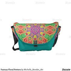 Fantasy Floral Pattern Small Messenger Bag