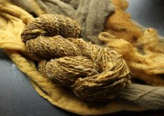 Spinning a few yarns from Shroomworks, phaeolus gold