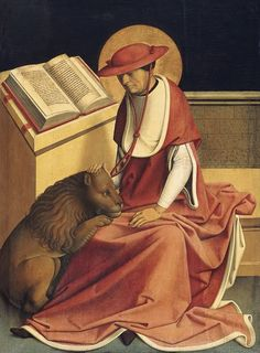 'Saint Jerome as a Cardinal' by Master of Grossgmain