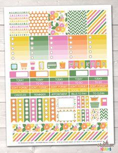 Spring Flowers Printable Planner Stickers Weekly Kit