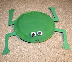 toddler crafts for spring | Preschool Crafts for Kids*: Easy Paper Plate Frog Crafts