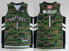 Men's Toronto Raptors #1 Tracy McGrady Revolution 30 Swingman Camo Short-Sleeved Jersey