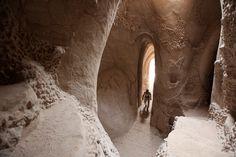 catedral subterránea en el desierto de eeuu