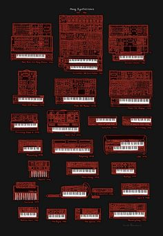 Moog Synthesizers: 1964 - 1986 (Red) by tanuki_8, via Flickr