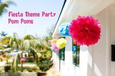 Fiesta Theme Party Pom Poms