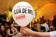Balão personalizado para casamento rústico-chique