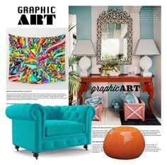 """Graphic Art"" by nicolevalents ❤ liked on Polyvore featuring interior, interiors, interior design, home, home decor, interior decorating and Joybird Furniture"