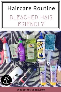 My hair care routine is bleached hair friendly. Learn what I use for soft, healthy hair while taming frizz, toning, and protecting from heat.    #haircareroutine #haircareroutinetips #haircareroutineproducts #bleachedhair #colortreatedhair