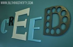 tutorial for making own name letters. so doing this! orrr... getting my dad to do it for me rather.