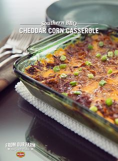 Southern BBQ Cheddar Corn Casserole – Add some Southern charm to your sides this holiday. This tasty dish has some serious oomph with BBQ pulled pork and cheddar cheese. Add coleslaw for that true Southern flavor experience.