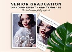 Senior Graduation Announcement Card by choku-design-studio on @creativemarket