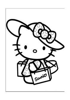 Hello Kitty Målarbilder för barn. Teckningar online till skriv ut. Nº 13