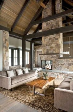 Rustic Living Rooms-24-1 Kindesign