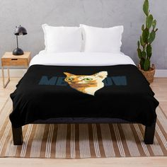 'Black Cat Lover Gift Retro Style' Throw Blanket by Kelly Adams Neon Azul, Emoji Design, Neon Design, Floral Design, Graphic Design, Diego Armando, Daddy, Plaid, Pizza Party