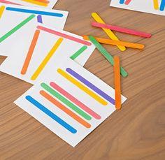 Actividades para Educación Infantil: Juego para hacer con palitos de colores