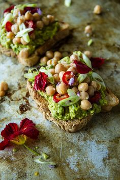 Curried Avocado Toast with Spicy Chickpeas