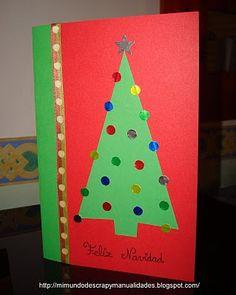 mi mundo de scrap y postal de navidad tutorial