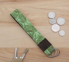 Wristlet Keychain  key ring  key fob  teacher by SkinnyBugStudio