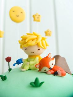 Little Prince, the fox, and the rose