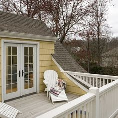 Idea for adding deck off our 2nd floor bedroom.