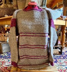 NEW sweater in the studio! Farm Store, Yarn Shop, Men Sweater, Pullover, Studio, Sweaters, Fashion, Moda, Sweater