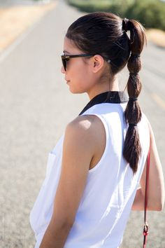 Cute Ponytail For Your Summer Weekend's - Visit Stylishlyme.com for more outfit inspiration and style tips