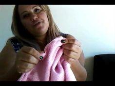 como fazer toalha de banho para bebe - YouTube