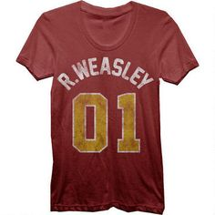 Ron Weasley 01 Women's Fitted Burgundy T-Shirt @Renae Ross Cory and @Barbara Cory I have a birthday coming up...