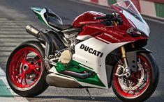 Download wallpapers Ducati 1299 Panigale R, 2017, Race bike, cool bike, italy color, sports bike, italian motorcycles, Ducati