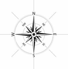 There is no need to buy a Feng Shui Compass (known as a Lo Pan). An ordinary camping compass will be fine. You need a compass that will give a specific degree e. Compass Tattoo, Compass Drawing, Compass Logo, Rose Images, Rose Pictures, Nautique Vintage, Sextant Tattoo, Nautical Compass, Nautical Marine