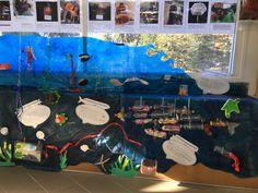 shot @installation - Plastic Free July art installation displayed at Manly Sea-Life