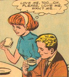 """Comic Girls say.. """"Love me, too..oh please love me, want me ! """" #comic #popart…"""