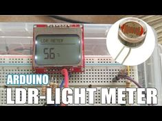 Arduino Light sensor LDR Monitor with a LCD Nokia 5110 Tutorial