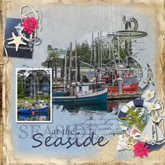 Layout using {Seaside Vacation} Digital Scrapbook Kit by Eudora Designs available at PBP https://www.pickleberrypop.com/shop/manufacturers.php?manufacturerid=173