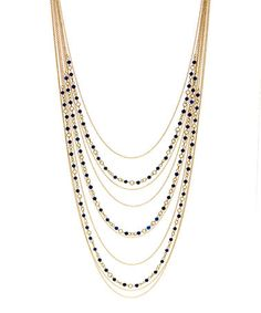 Loving this Lapis & Gold Apolonia Drape Necklace on #zulily! #zulilyfinds