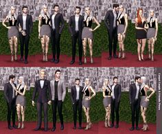 Sims 4 CC's - The Best: Carpet Couple & Friends Poses Pack by sim-ply-grey...