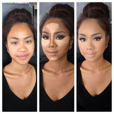 20 different faces with contouring examples.  it's awesome!!!!!!1  many diff face shapes