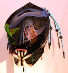 predator motorcycle helmet by kustomzairbrushing on Etsy