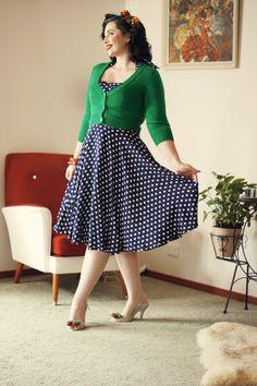 Trasy Diva Polka dot Trixie Dress Candice DeVille web9 Daily Outfit Polka Dot Vintage Dress Day