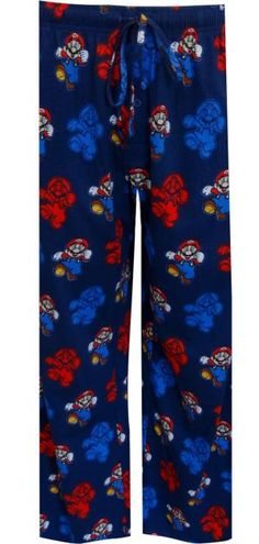 cef8d8cd593a Nintendo Super Mario Navy Blue Lounge Pants