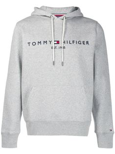 Tommy Hilfiger Logo Embroidered Hoodie In Grey Sueter Tommy Hilfiger, Tommy Hilfiger Mujer, Tommy Hilfiger Outfit, Tommy Hilfiger Jackets, Hilfiger Denim, Tommy Hilfiger Clothing, Tommy Hilfiger Women, Teen Fashion Outfits, Nike Clothes