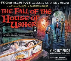 """The Fall of the House of Usher"" (1960) Starring Vincent Price as Roderick Usher - wonderfully gothic film"
