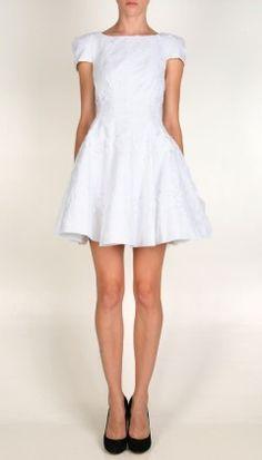 cap sleeve dress - tibi
