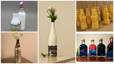 ideias e modelos Rustic Decor, Home And Garden, Diy Crafts, Bottle, Interior, Home Decor, Painted Bottles, Decorative Bottles, Decorate Bottles