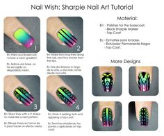 Why didn't I think of this?!   Use SHARPIES to design on nails!!!    Nail Wish: Seven Deadly Sins Day 7: Sloth
