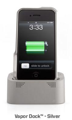 This iPhone dock looks sharp and sleek.