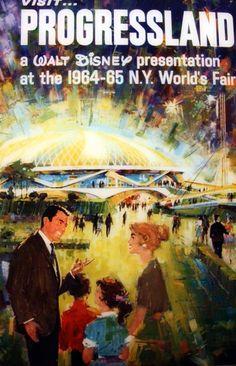 Vintage Disney Poster for NY World's Fair