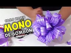 How to make Ribbon Cloth or Bombon. Step by Step. Gift Wrapping Bows, Gift Bows, Diy Crafts For Gifts, Easy Crafts, Cheer Bow Tutorial, Origami, Wine Cork Crafts, How To Make Ribbon, Ribbon Making