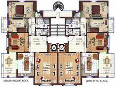 apartman mimari plan ile ilgili görsel sonucu