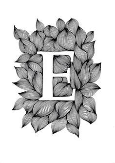 Palatino - Ink on paper, 21 x 30 cm - Ellen van de Sande Creative Lettering, Lettering Design, Hand Lettering, Art Quilling, Quilling Patterns, Calligraphy Drawing, Calligraphy Alphabet, Alphabet Letters Design, Letter Art